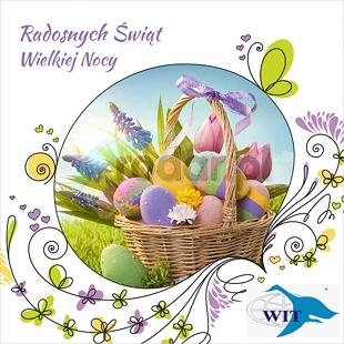 Radosnych Świąt Wielkanocnych, przepełnionych nadzieję i miłością, wiosennego, słonecznego nastroju i odpoczynku w gronie najbliższych