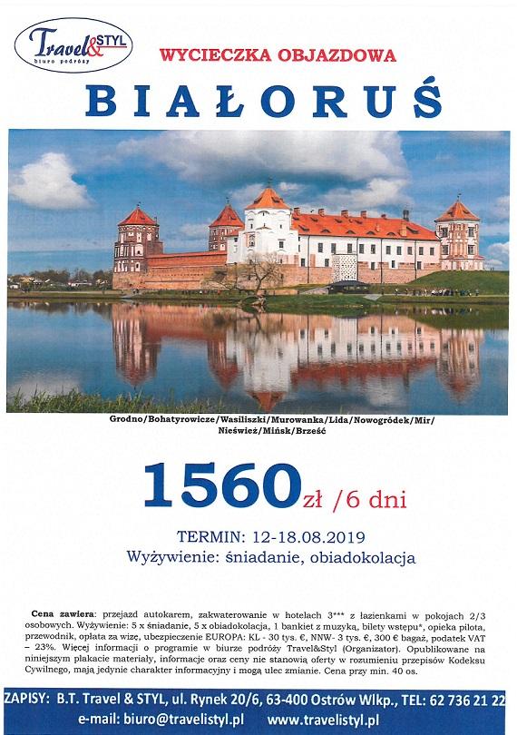 Wolne miejsca na wycieczkę na Białoruś z biurem Travel & Styl