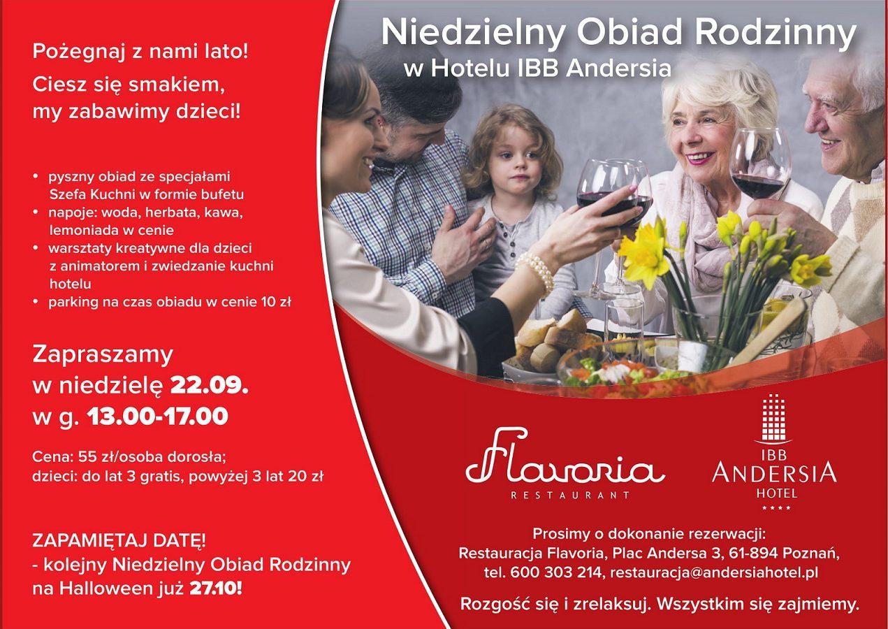 Niedzielny Rodzinny Obiad w HOTELU ANDERSIA
