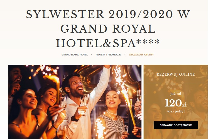 Sylwester w GRAND ROYAL HOTEL