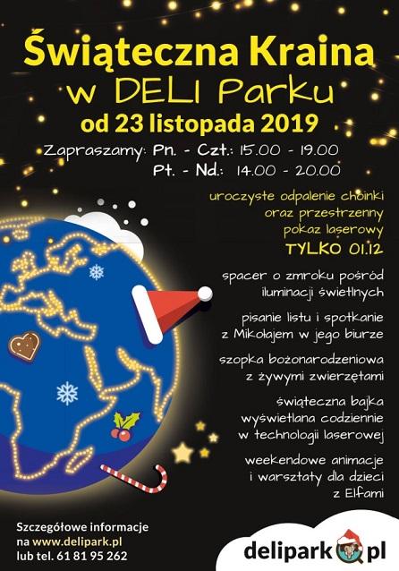1 grudnia 2019 – Oficjalne otwarcie Świątecznej Krainy w Deli Parku