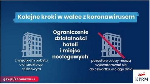 Rząd zamyka hotele, parki, rowery miejskie !!!