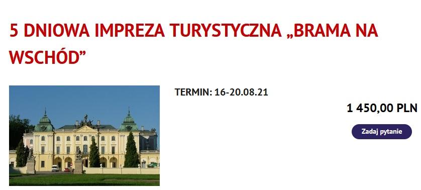 Polecamy wycieczki z biurem podróży Travel&Styl- Podlasie